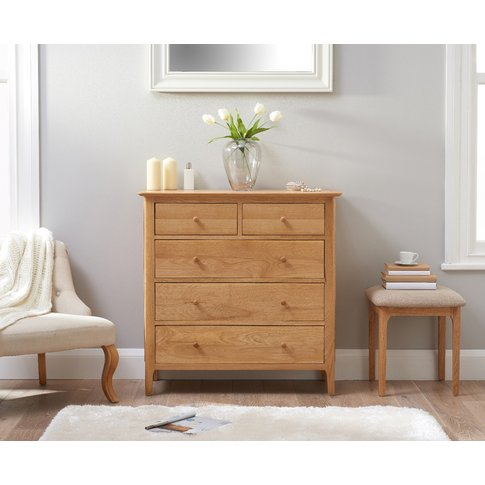 Suri Oak 2 Over 3 Chest Of Drawers