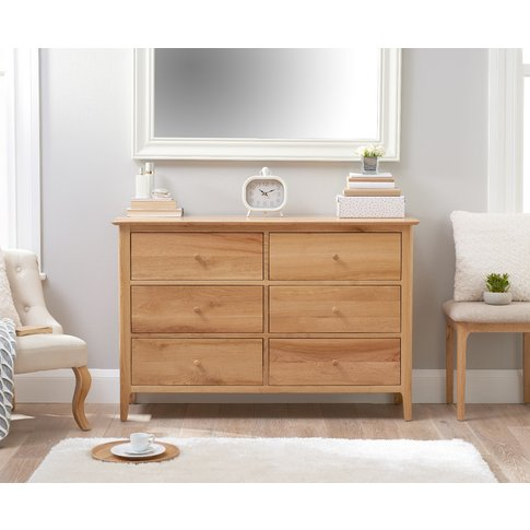 Suri Oak 6 Drawer Chest