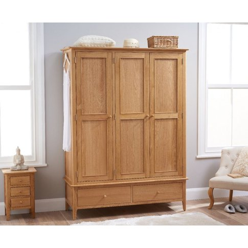 Suri Oak Large Three Door Wardrobe