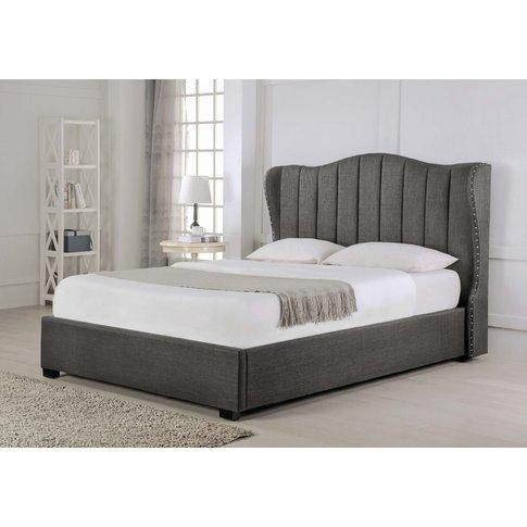 Sherwood Grey Fabric Ottoman King Size Bed
