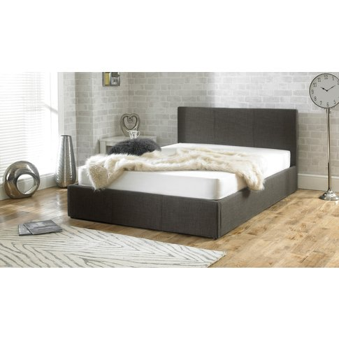 Sterling Grey Fabric Ottoman Double Bed