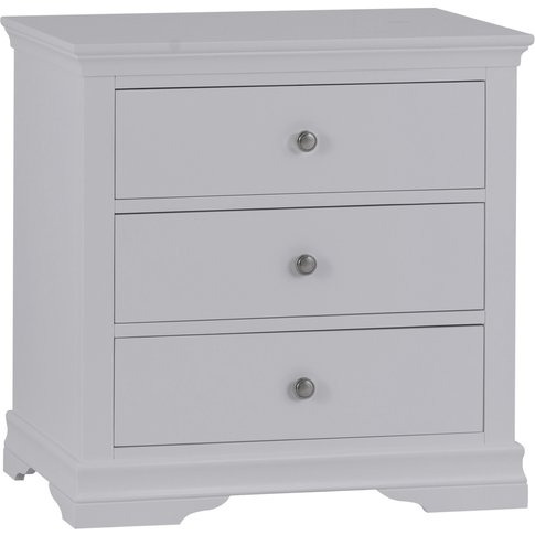 Simon Grey 3 Drawer Chest Of Drawers