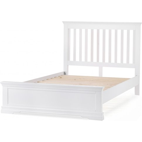 Budapest White Double Bed