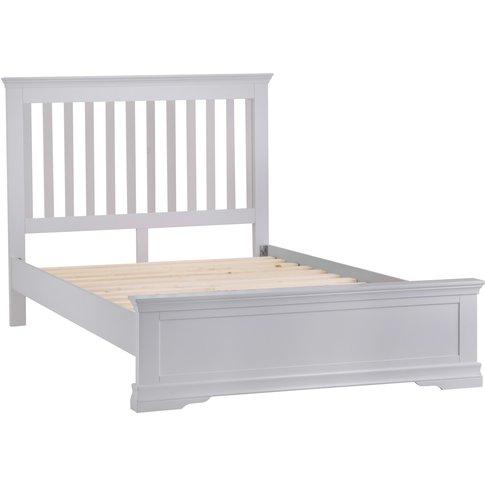 Simon Grey Kingsize Bed Frame