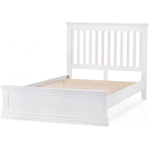 Budapest White King Size Bed