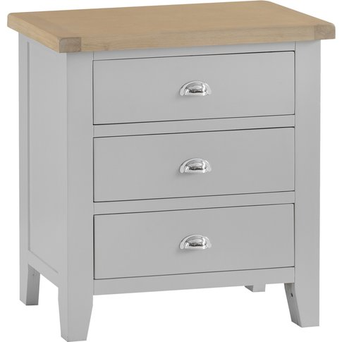 William Oak And Grey 3 Drawer Chest Of Drawers