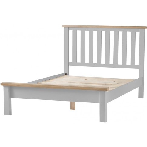 William Oak And Grey Double Bed Frame