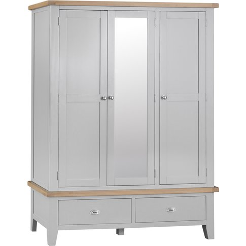 William Oak and Grey 3 Door Wardrobe