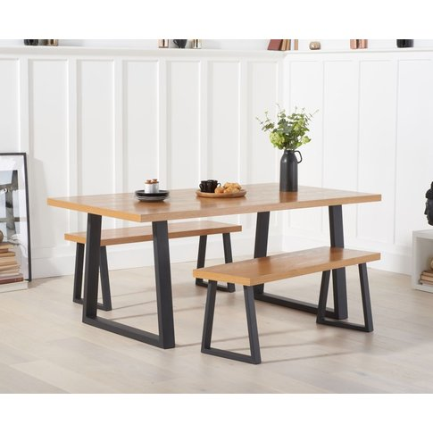 Uma 180cm Dining Table And Benches