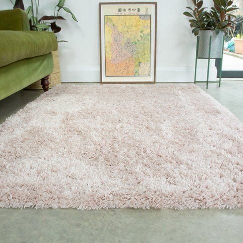 Super Soft Luxury Blush Pink Shaggy Rug - Aspen