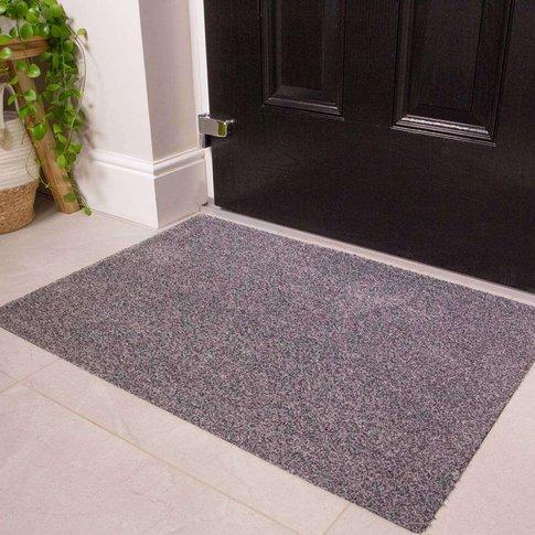 Silver Grey Durable Eco-Friendly Washable Doormats -...