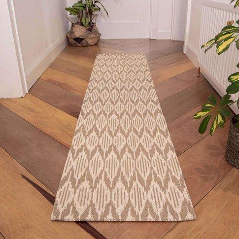 Natural Stripe Woven Runner Rug - Kendall