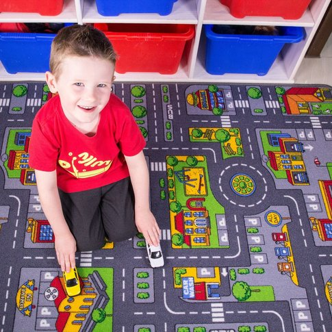 Play Town Village Roads Kids Rug