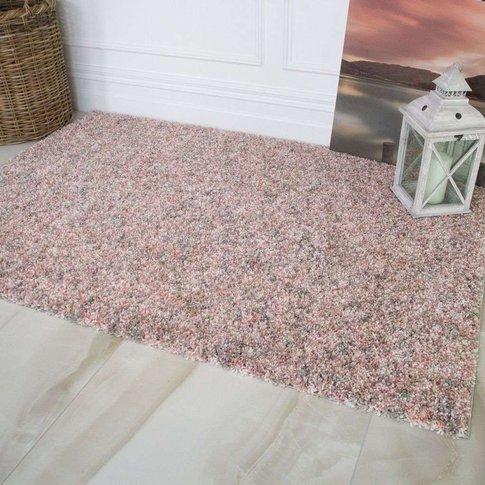 Super Soft Blush Pink Luxurious Shaggy Rug - Murano