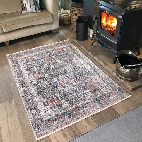 Grey Terra Traditional Rug - Mystic