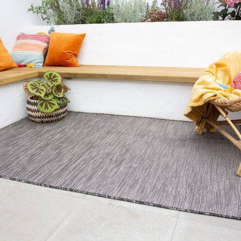 Graphite Mottled Indoor | Outdoor Rug - Patio
