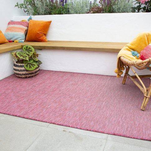 Raspberry Mottled Indoor | Outdoor Rug - Patio