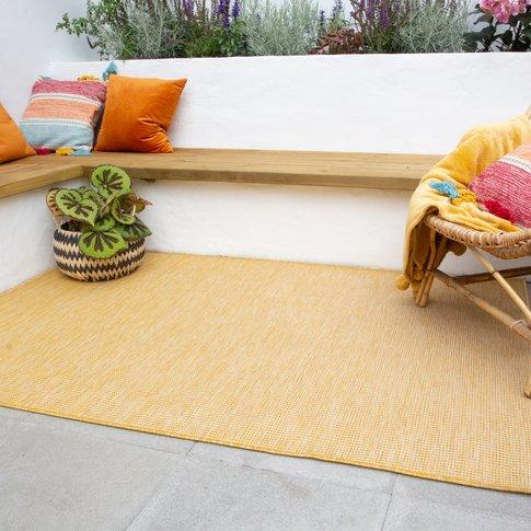 Yellow Mottled Indoor | Outdoor Rug - Patio