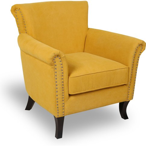 Jonquil Yellow Stonewash Effect English ArmChair