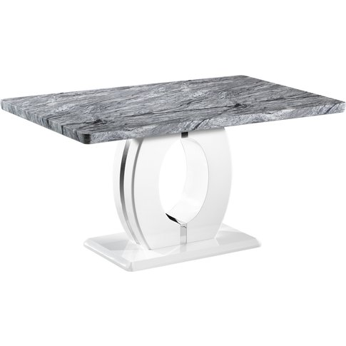 Marble Top Effect 150cm Dining Table