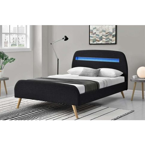 Knight Led Scandi Fabric Bed Frame