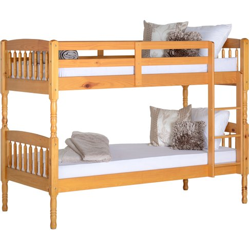 Albany Single Bunk Bed in Antique Pine