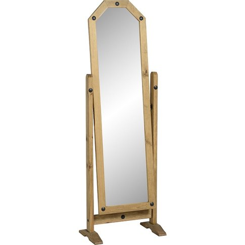 Corona Cheval Mirror In Pine
