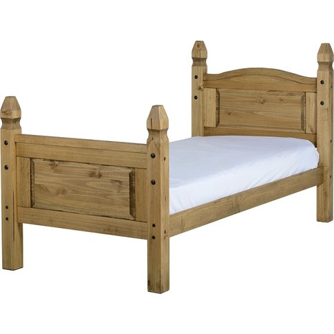 Corona Single Bed High Foot End In Pine