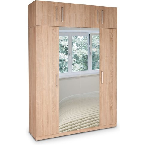 Holborn Plus 4 Door Wardrobe With 2 Mirrored Doors
