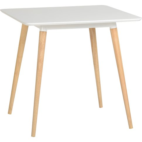 Julian Dining Table In White & Natural