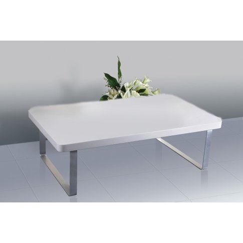 Accent Coffee Table - High Gloss White