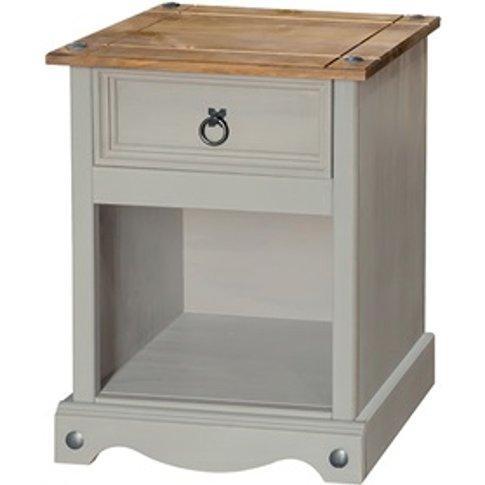 Brazil Grey 1 Drawer Bedside Cabinet