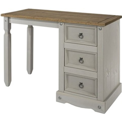Brazil Grey Single Pedestal Dressing Table