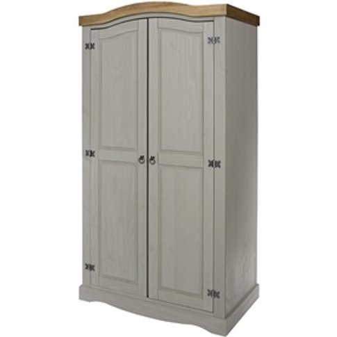 Brazil Grey 2 Door Wardrobe