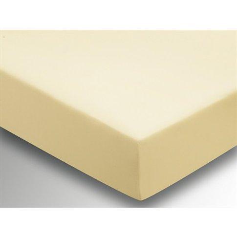 Plain Dye Fitted Sheet - Primrose