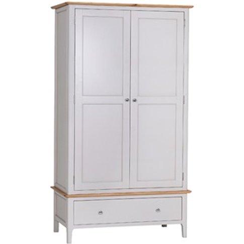 Norfolk White Large 2 Door 1 Drawer Wardrobe