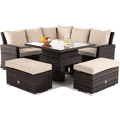 Richmond Corner Bench Set With Rising Table