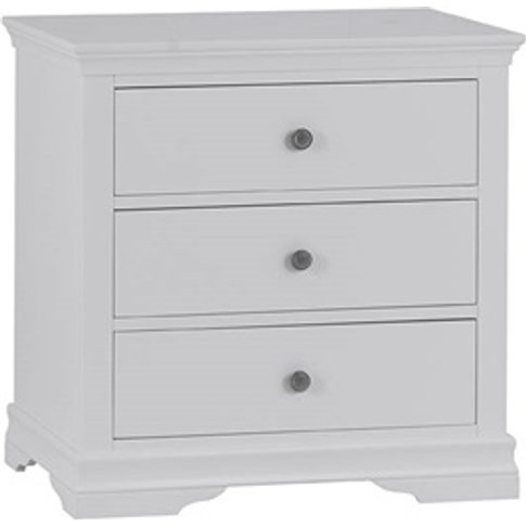 Cambridge White 3 Drawer Chest