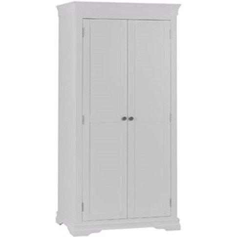 Cambridge White 2 Door Full Hanging Wardrobe