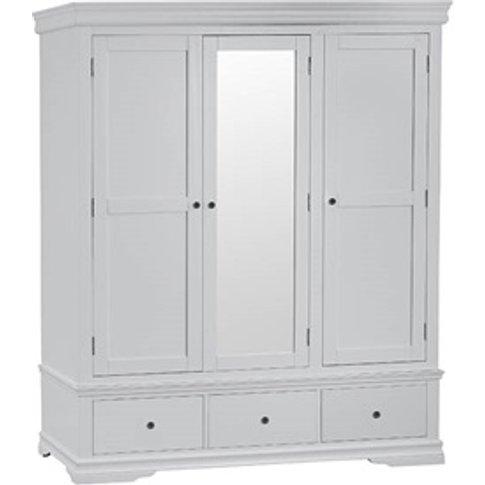 Cambridge Grey 3 Door 2 Drawer Wardrobe