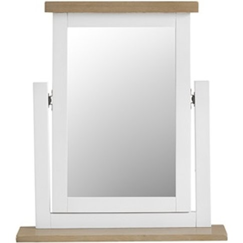 Southwold White Trinket Mirror