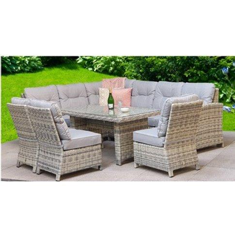 Amy Corner Dining Sofa Set - Grey