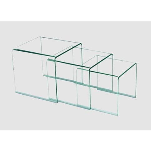 Angola Clear 3 Piece Nest Of Tables