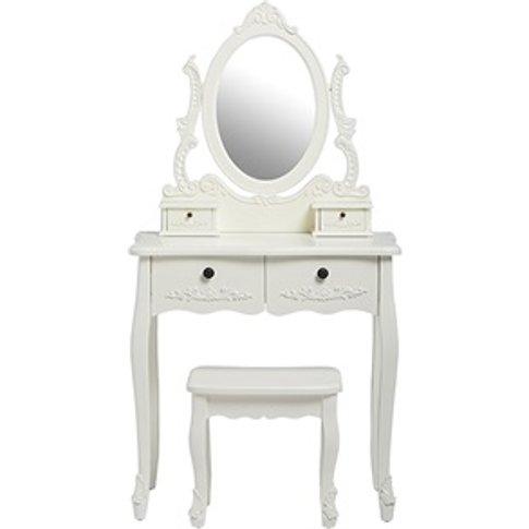 Antoinette Dressing Table Set White