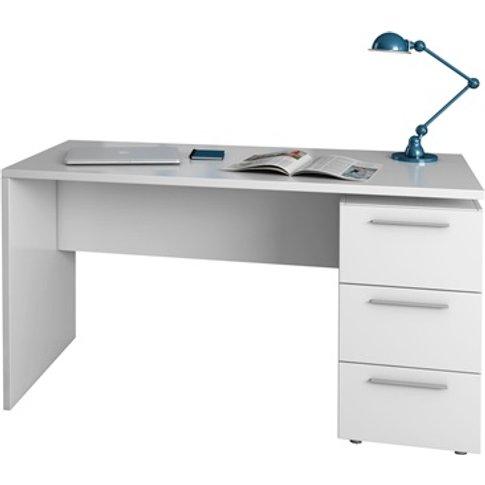 Arctic Desk 3 Drawer