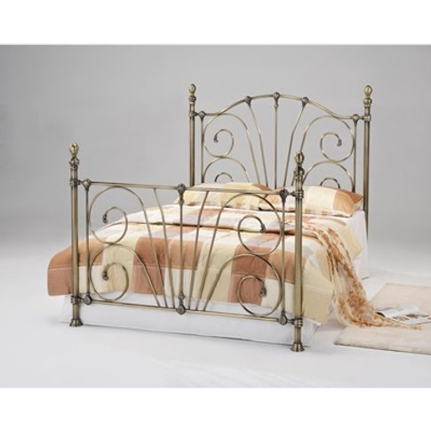 Beatrice Antique Brass Bed