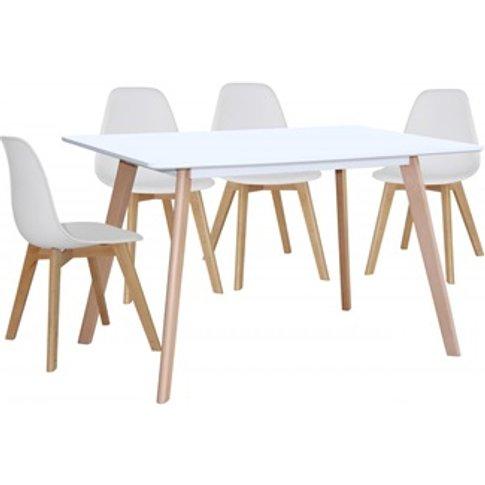 Belgium Large Dining Table White