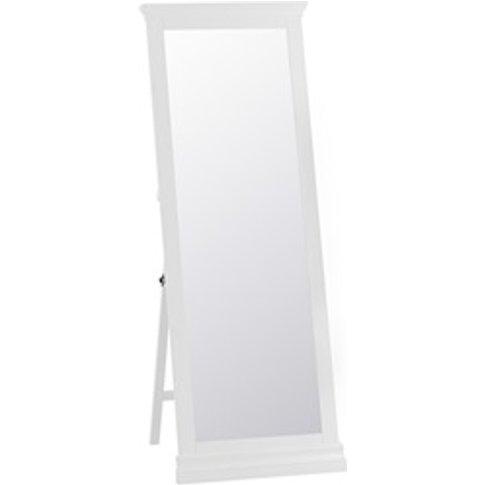Cambridge White Cheval Mirror