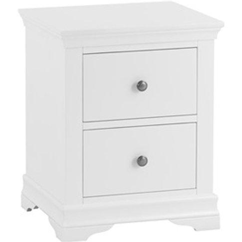 Cambridge White Large Bedside Cabinet