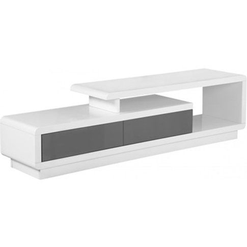 Cavalier High Gloss Tv Cabinet White And Grey